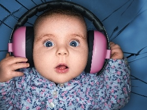 Big, Eyes, HEADPHONES, face, Kid