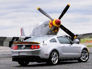 plane, Ford Mustang