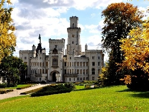 Castle, trees, viewes, Park