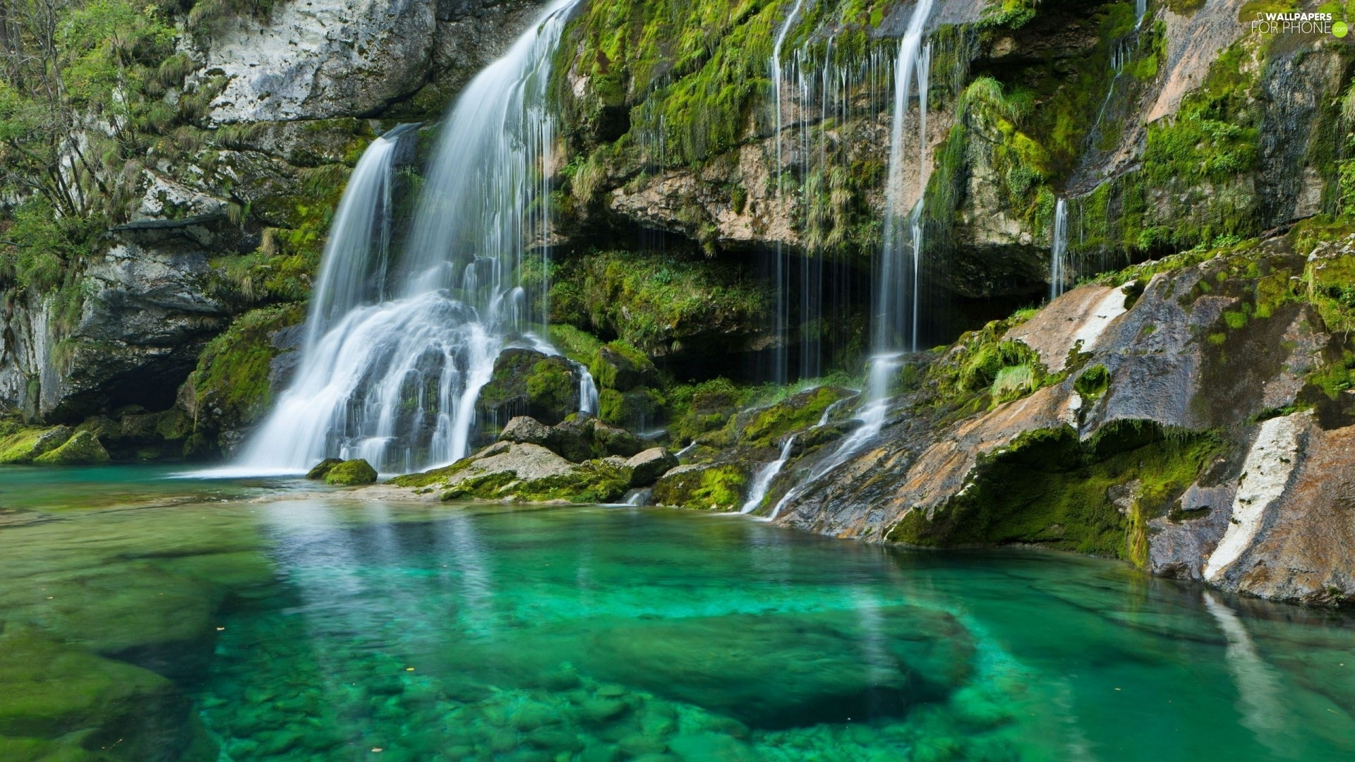 waterfalls desktop wallpaper lake - photo #12