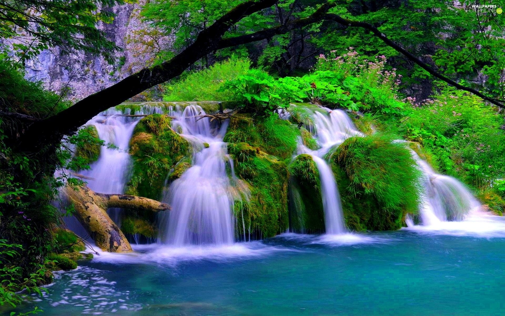 waterfalls desktop wallpaper lake - photo #7