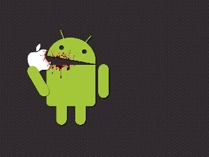 Apple, logo, Apple, blood, Android
