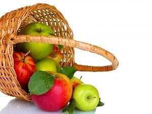 apples, wicker, basket