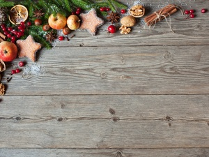 spruce, composition, Cookies, Twigs, Babes, boarding, apples, Christmas, Christmas, Cinnamon, anise