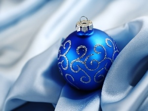 Blue, bauble