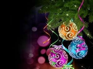 Christmas, color, baubles, decor