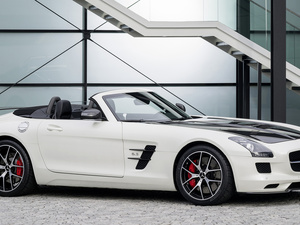 side, White, Mercedes-Benz SLS AMG GT