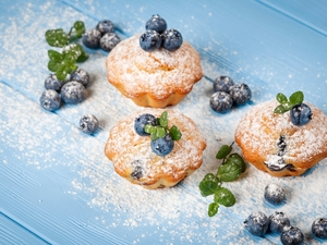 castor sugar, Muffins, blueberries