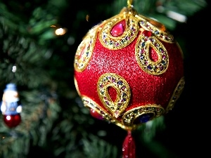 christmas tree, bauble, blur, Beauty