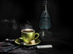 cup, lighter, Bottle, coffee