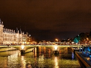 Paris, bridge, France, Seine