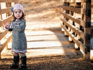 bridges, small, girl