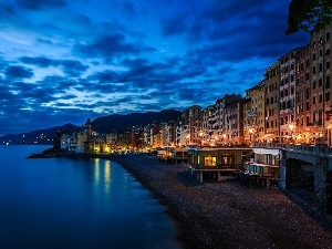 Camogli, Italy, Beaches, Town, sea