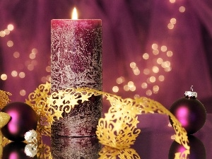 candle, decoration, Christmas