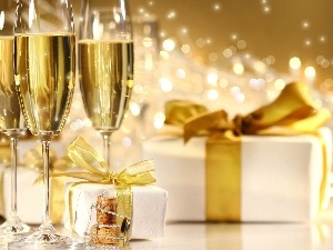 champagne glass, gifts
