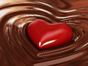 chocolate, Heart, Smooth