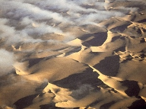 clouds, Namibia, Desert