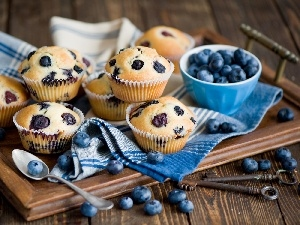 composition, Muffins, blueberries