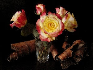 cork, bouquet, roses