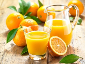 orange, jug, cup, juice
