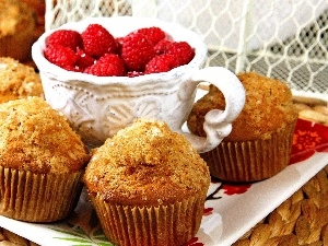 cup, Muffins, raspberries