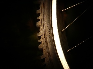 the spokes, circle, text, Made In Poland, tire, cycling