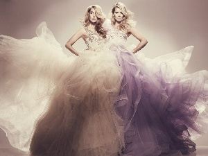 Two, ball, dresses, Womens