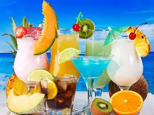 drinks, summer, color