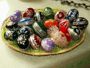 color, Painted eggs, Easter, eggs
