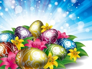 eggs, decor, color, eggs, Easter