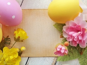 eggs, Easter, Flowers