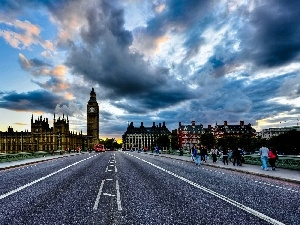 Street, London, England, panorama