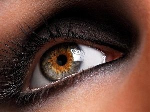 make-up, Women, eye