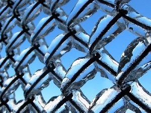 icy, fence