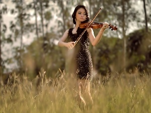 forest, Women, violin