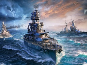 World Of Warships, ships, game, sea