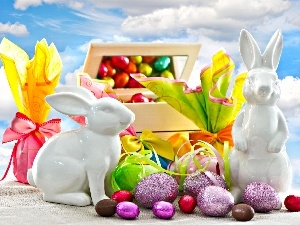 rabbits, eggs, gifts, easter