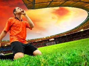 grass, footballer, Stadium