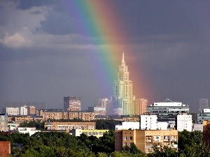 Moscow, town, Great Rainbows, View