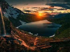 Northern Norway, Mountains, Great Sunsets, lake
