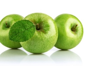 apples, Three, green ones
