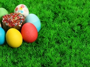 Green, grass, eggs, Easter, color