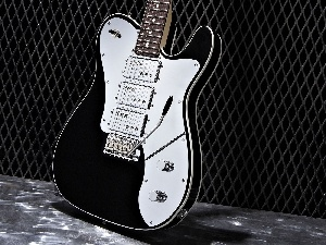 Guitar, black, White