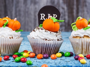 halloween, Three, Muffins