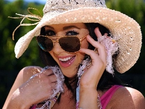 Hat, Glasses, Denise, Milani, smiling