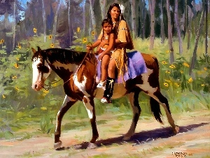 Horse, picture, Indian