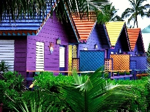 Houses, Maldives, color