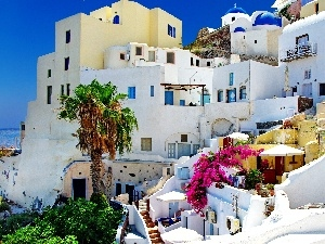 Houses, Greece, santorini