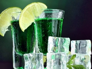 green ones, knuckle, ice, Juices