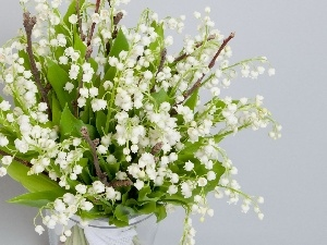 Vase, bouquet, Lily of the Valley
